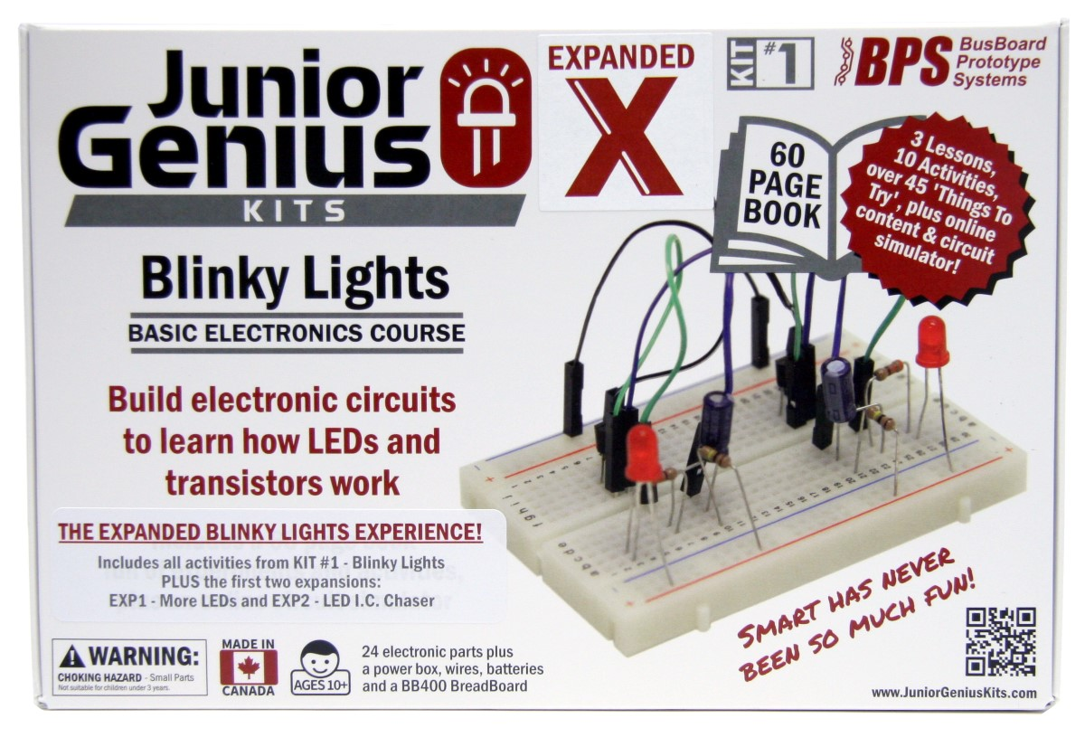 Build Electronic Circuits Online Jrg01 Kitx Blinky Lights Kits Junior Genius Store Features